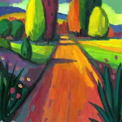 camino de cipreses