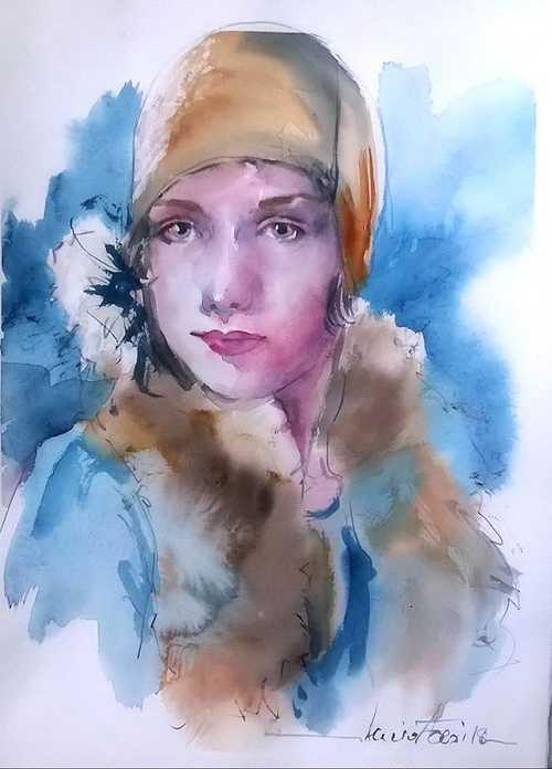 Donna col cappello.... 0