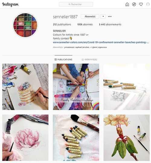 Instagram, Sennelier dépasse la barre des 100000 followers et organise un « Giveaway » pour fêter l'évènement. 0