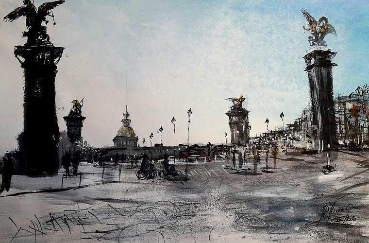 ''Pont Alexandre III et Invalides'' 0