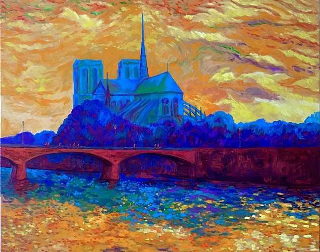 Notre-Dame de Paris, lumière de l'aube 0