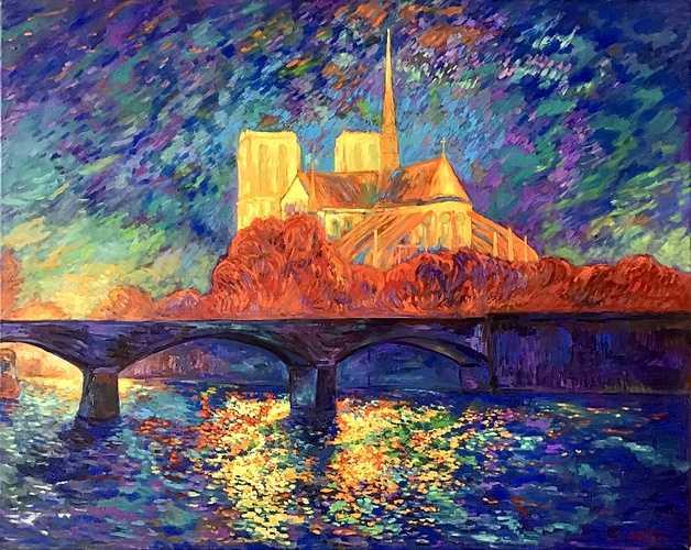 Notre-Dame de Paris, effet de nuit 0