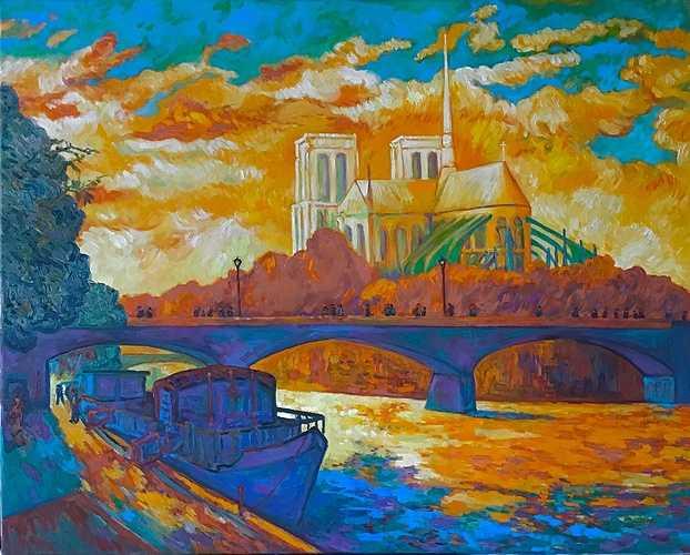 Notre-Dame de Paris au couchant 0