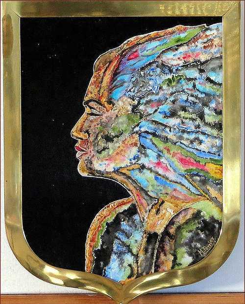 Blason profil multicolore by Michel Perrier - www.michel-perrier.com 0