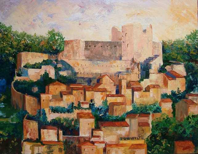 Coucher de soleil sur Lacoste : village provençal où vécut le Marquis de Sade 0