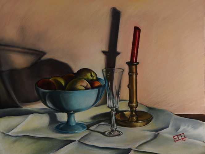 Fruits, cire, cuivre et cristal 0