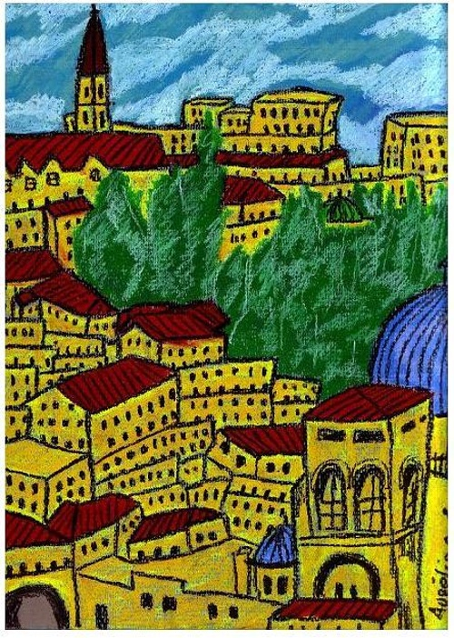 Jerusalem over the roofs 0