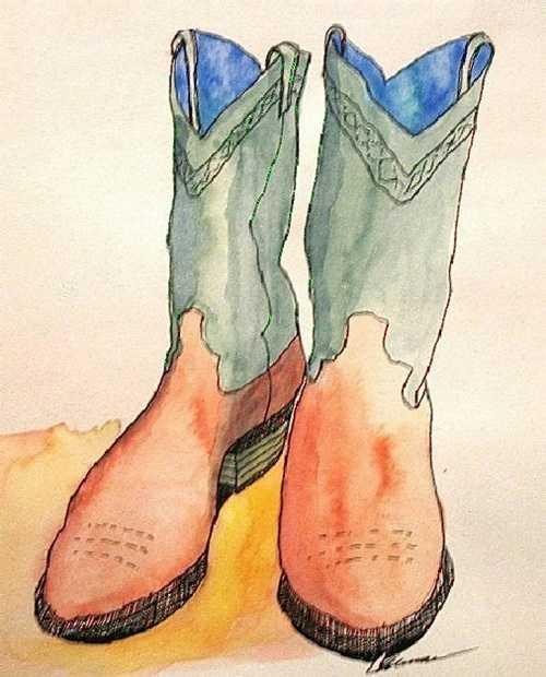 Orange Boots 0
