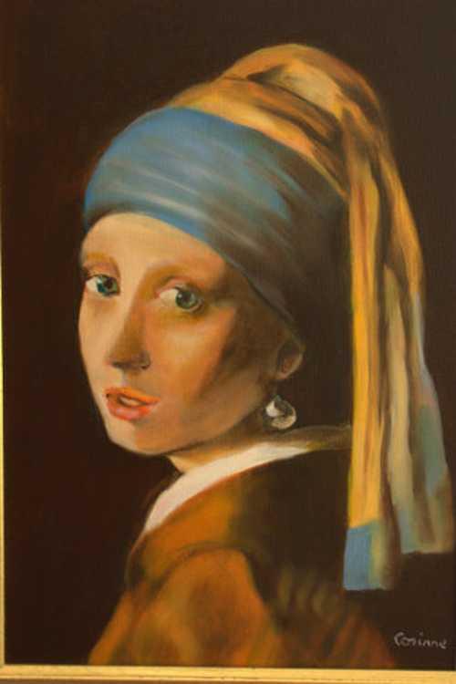 Jeune fille à la perle , d'aprés Veermer. 0
