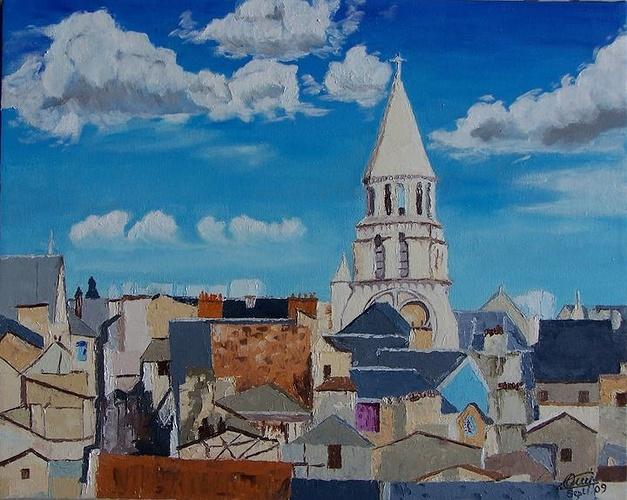 Poitiers Nt Dame , les Toits 0
