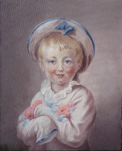 Enfant costumé en Pierrot d'après Fragonard 0