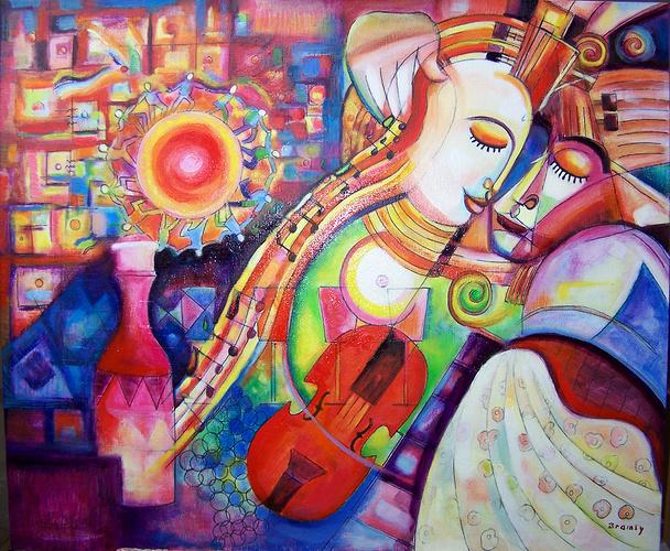 Le couple au violon 0