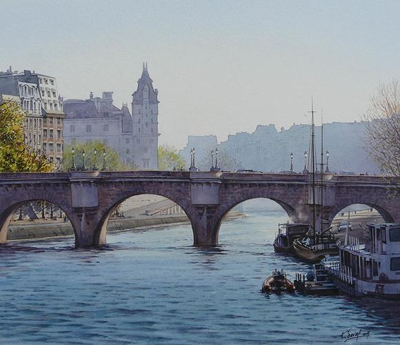 Contre-jour sur le quais des Orfèvres et le Pont-Neuf 0
