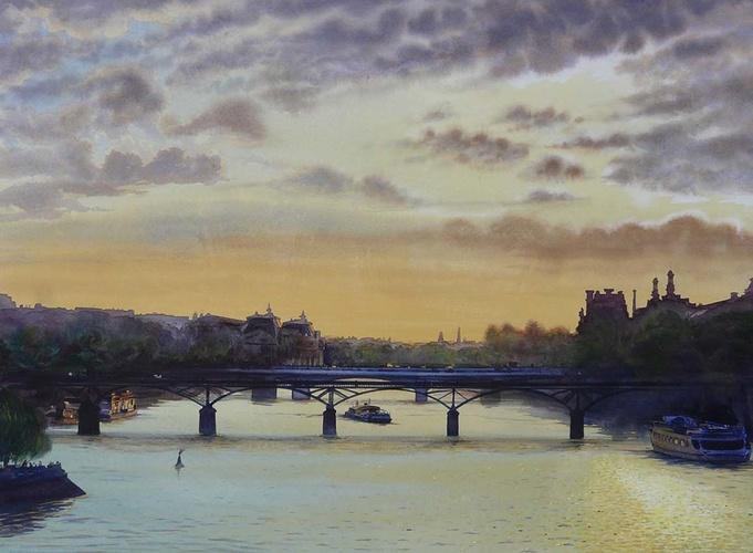 Couché de soleil sur la Seine 0