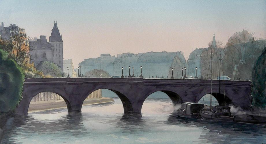 Le pont Neuf au petit matin 0