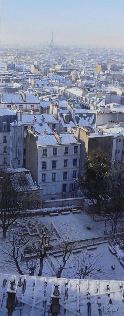 Les toits de Montmartre sous la neige 0