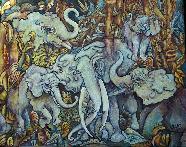 Eléphants bleus 0