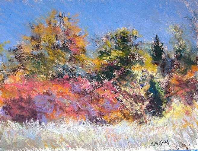 """The Larger Row Pastel on Arches cover paper 12.50"""" x 15"""" 0"""