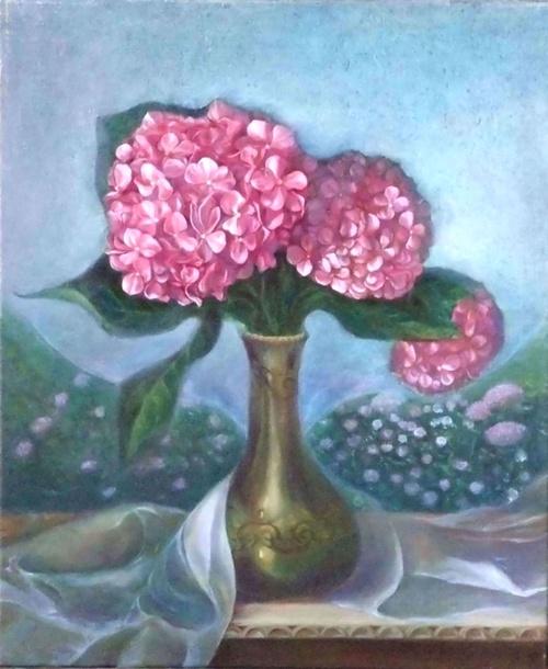 hortensia rose et bleu 0