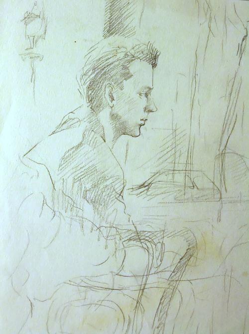 un jeune homme au café à Paris 1986 0