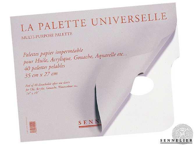 Palettes papier pour Huile 0