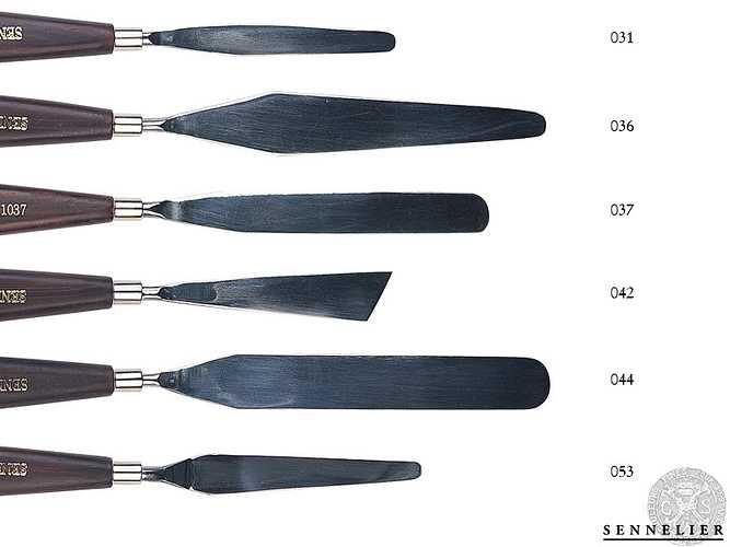 Couteaux à palette 0