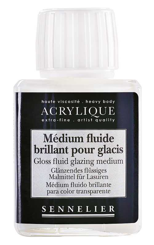 Medium fluide brillant pour glacis 0