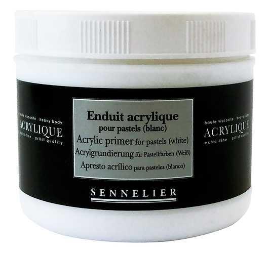 Enduit acrylique pour pastels (blanc) 0
