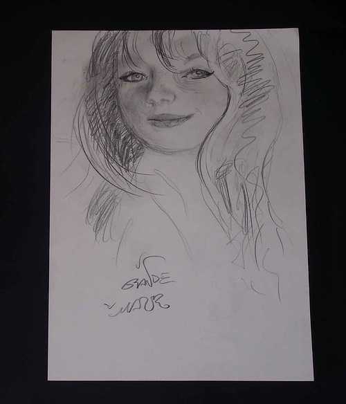 Esboço ligeiro de retrato de menina-moça (Esquisse d´une portrait de jeune-fille) 0