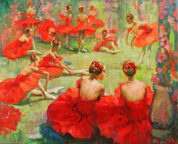 """""""Petites ballerines en costume de Coquelicots"""" 111"""