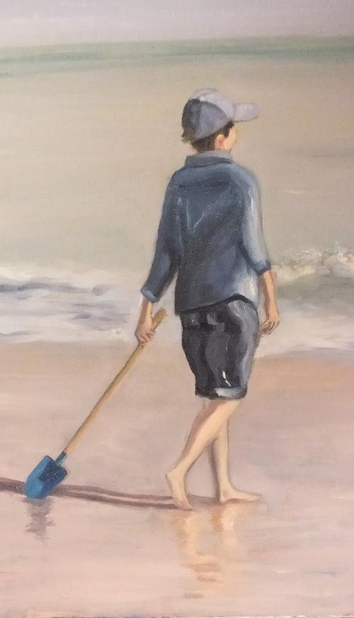 Pierre sur la plage 0