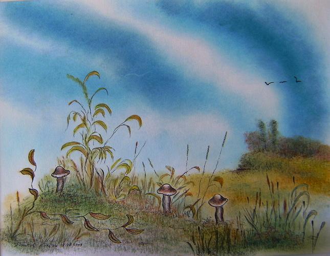 Landscape with Mashrooms 0