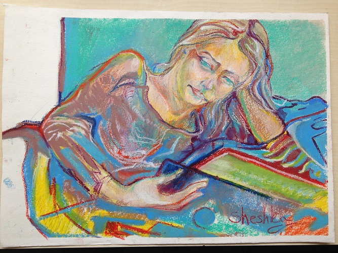 en étudiant Chagall 0