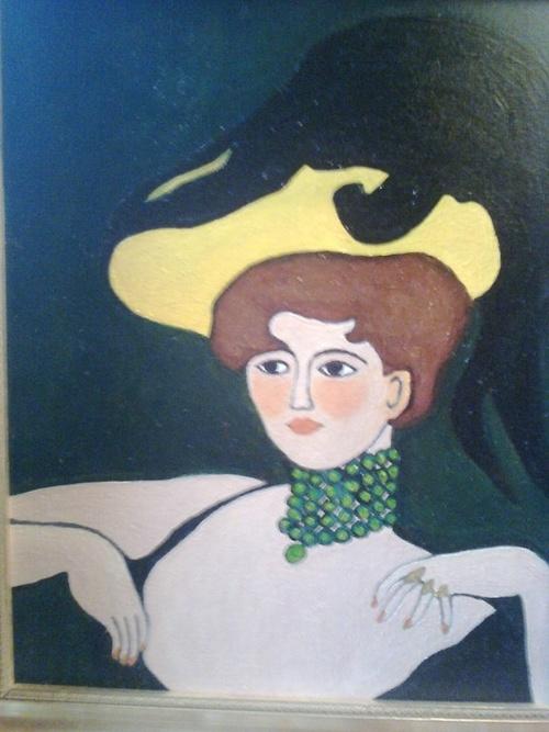 La fille au chapeau jaune 0