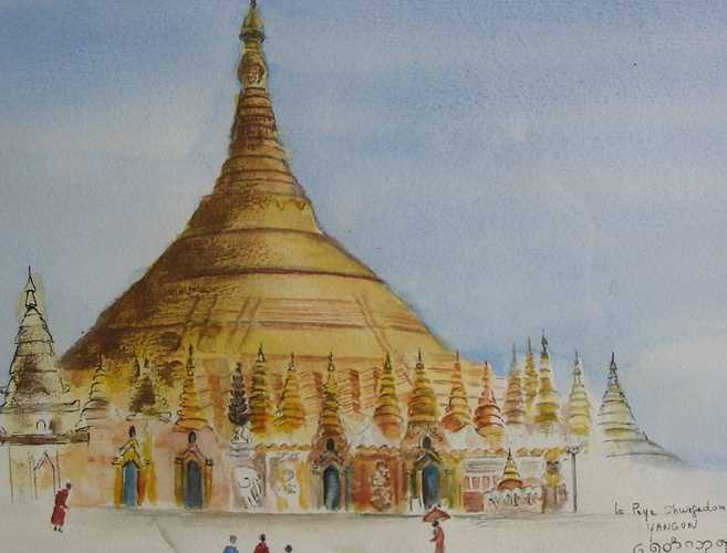 la pagode shwedagon à Rangoon Birmanie 0