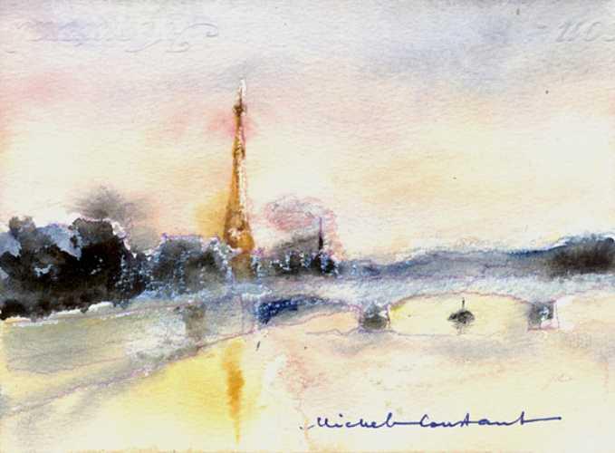 Michel CONSTANT - Paris - La Seine vue du Pont Alexandre III 0