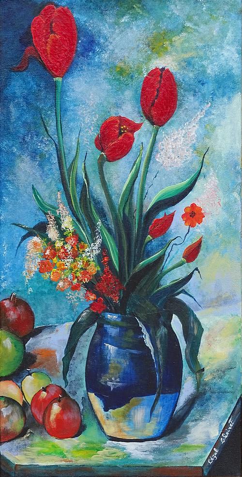 Tulipes dans un vase 0