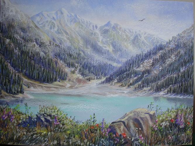 Grand lac D'Almaty, Kazakhstan 0