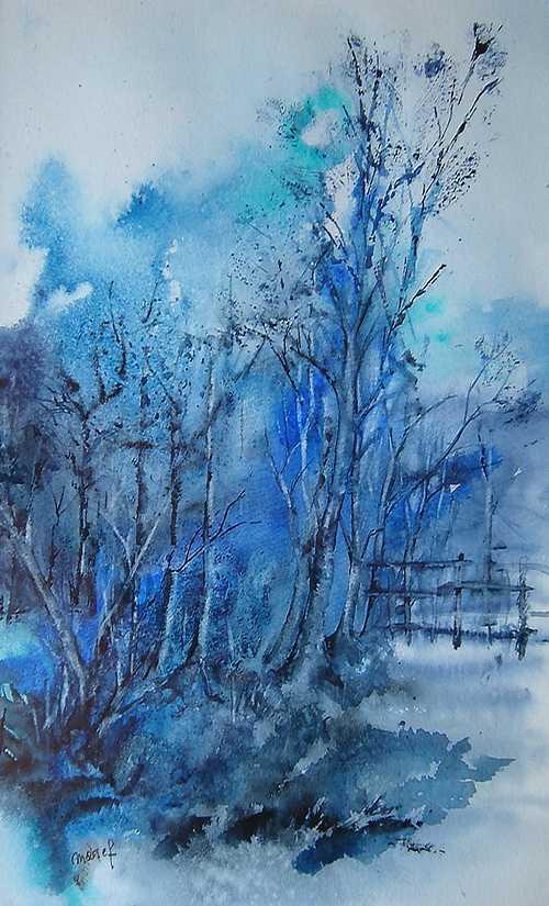 blue trees étude 0